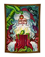 LB クリスマス タペストリー 可愛いサンタクロース パーティー用 壁掛け おしゃれ 多機能 インテリア クリスマス装飾 撮影背景 ポスター 子供部屋(100x150cm)