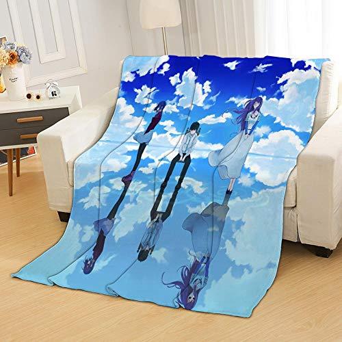Haosb Blankets Tokyo Suburbs Food Anime Blanket Flannel Air Conditioning Blanket Custom CD Print Blanket for Sleeping Coral Fleece Golden Wood D 125 * 200 Cm