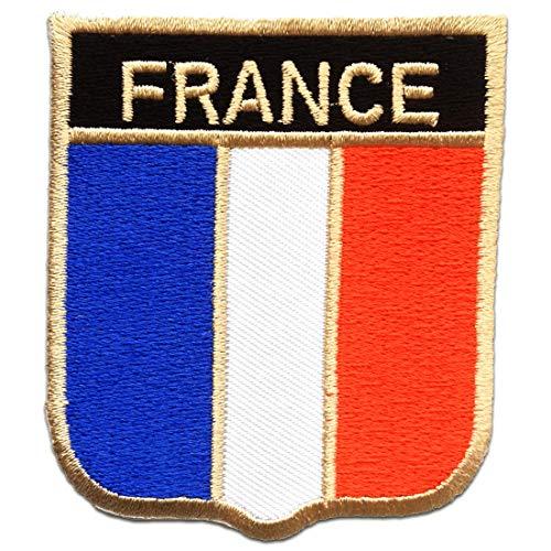 Frankreich Flagge Fahne - Aufnäher, Bügelbild, Aufbügler, Applikationen, Patches, Flicken, zum aufbügeln, Größe: 6.2 x 7.5 cm