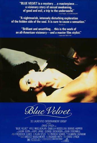 Amazon.com: Blue Velvet 27 x 40 Movie Poster - Style E: Lithographic Prints:  Posters & Prints
