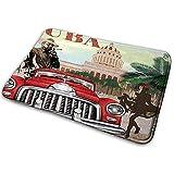 Felpudo Alfombra de baño Alfombrilla Alfombra Cuba Turismo Rural Tema publicitario Vintage Cigarro Smuking Hombre Bailarina