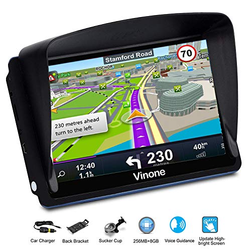 GPS Navigation for Cars, 7-inch Portable Car GPS Navigation System, Built-in 8GB-256MB Real Voice...