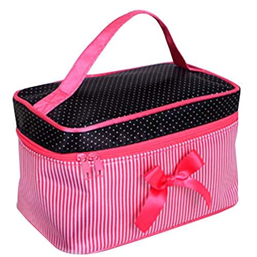Toruiwa Trousse de Toilette Sac de Rangement Maquillage Organisateur avec Poignée Portable Pliable en Polyester pour Gymnastiquem Voyage Sport 19 * 12 * 14cm