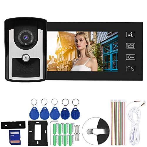 Videoportero, timbre con video, Systemv para apartamentos de seguridad en el hogar Seguridad de comunicación a todo color(Australian regulations (110-240V))