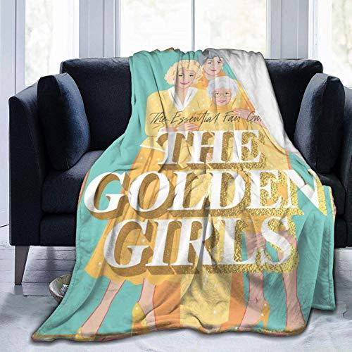 Throws The Golden Girls Throw Blanket Regalo Suave y cómodo con Estampado de Franela para Cama Sofá Cumpleaños 60 X 50 Pulgadas para Adolescentes
