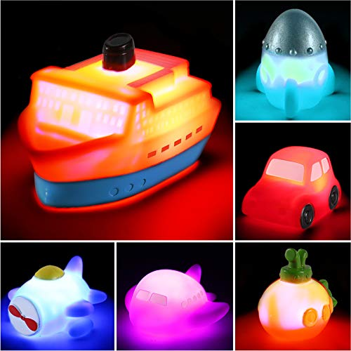 6 packs Light up Boat Bath Toy S...