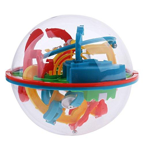 Hellery 118 Niveles Maze Puzzle Ball 3D Maze Intellect Cube Niños