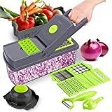 Vegetable Chopper, 14-in-1 CHOOBY Onion Chopper Dicer with Container, Multifunctional Veggie Slicer Food Cutter with 9 Stainless Steel Blades, Household Kitchen Gadgets for Vegetable Fruit