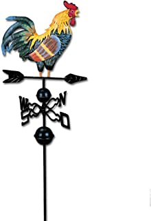 Weather Vanes for Roofs, Metal Weather Vane with Rooster Ornament Wind Vane Weather vain for roof Weather vanes for Roofs (as shown)