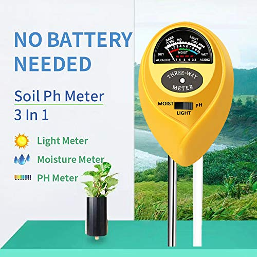 Check Out This Soil pH Meter, 3-in-1 Soil Test Kit for Moisture, Light & pH, A Must Have for Home and Garden, Lawn, Farm, Plants, Herbs & Gardening Tools, Indoor/Outdoors Plant Care Soil Tester