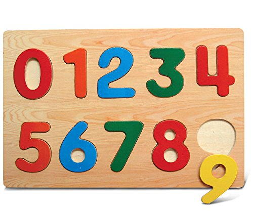 Puzzled Numbers Raised Wooden Puzzle -...