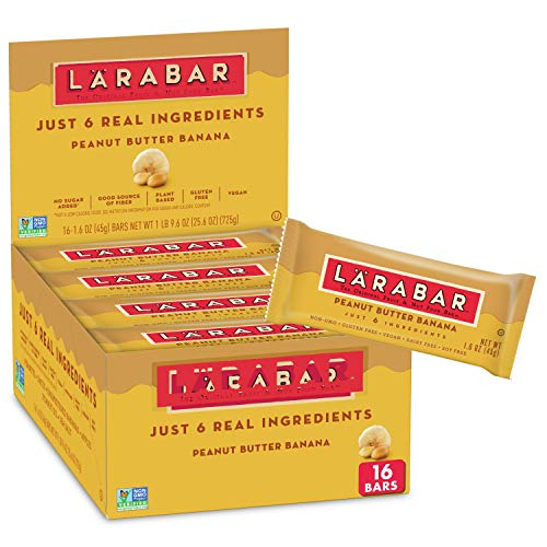 Larabar Gluten Free Peanut Butter Banana Energy Bars, Vegan, Snack, 1.7oz, 16CT