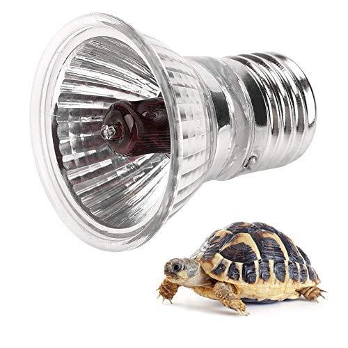 Reptile Heizung Glühbirne E27, Haofy Aquarium Sonnenbad Lampe, Wärme Emitter für Reptile, Haustier, Schlange und Schildkröte (50W)