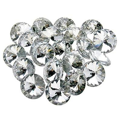Cada piedra tiene una parte trasera plana y cuenta con ocho facetas y una mesa en su parte superior. Buena calidad, corte a máquina, cristal de diamante. Corte: ocho facetas. Las gemas de cristal brillantes se pueden aplicar para muebles, perfectamen...