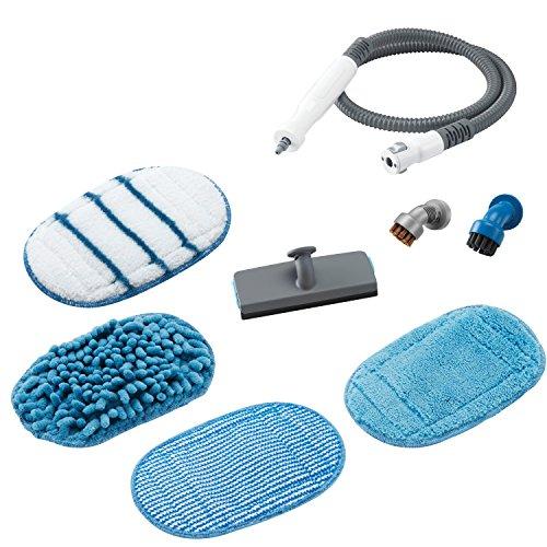 Black+Decker 8-teiliges Zubehör-Set für Dampfhandschuh SteaMitt, flexibler Schlauch, inklusive diversen Pads und Bürsten, für die Modelle FSH10SM, FSH10SM1, FSH10SMP