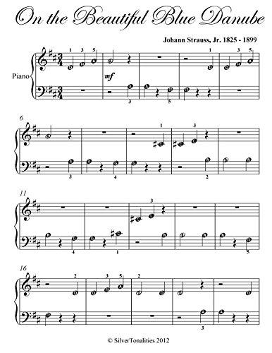 On the Beautiful Blue Danube Strauss Beginner Piano Sheet Music (English Edition)
