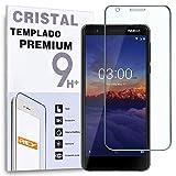 REY Protector de Pantalla para Nokia 3.1 (Nokia 3 2018), Cristal Vidrio Templado Premium