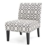 Kassi Geometric Patterned Fabric Accent Chair