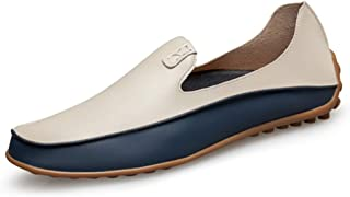 ZOZOE Men Driving Moccasins Casual Boat Shoes Leather Shoes Light Slip on Loafers Holiday Gift