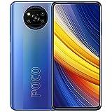 Poco X3 Pro (128 GB, 6 GB) 6,7 polegadas 120 Hz, Snapdragon 860, 48 MP câmera quádrupla 4 K, bateria o dia todo, dual SIM GSM desbloqueado de fábrica - Versão internacional 4G LTE EUA e global (com carregador rápido para carro, azul)