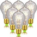 ZXNM Edison Filament Glühbirne LED Schnullerform Glühbirne Schraube E27 220v 4w Energieeffizient Klare Lichtquelle Antikes Beleuchtungsdekor 6 Stück/Packung