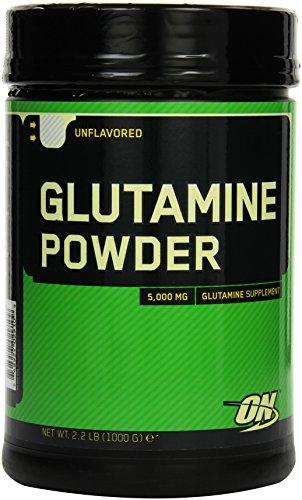 Optimum Nutrition Glutamine Pulver (5,0g L-Glutamine pro Portion von ON) Unflavoured, 200 Portionen, 1,05kg