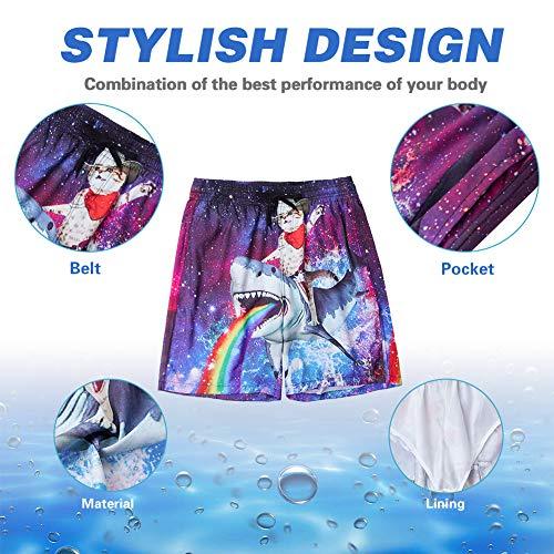 ALISISTER 3D Bañadores de Natación Hombre Pantalones Corto Poliéster Secado Rápido Ligero Swimming Shorts L