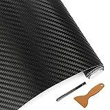 NewL Carbon - Pellicola autoadesiva per Auto, Effetto 3D, 30 x 152 cm, Effetto Carbonio Nero