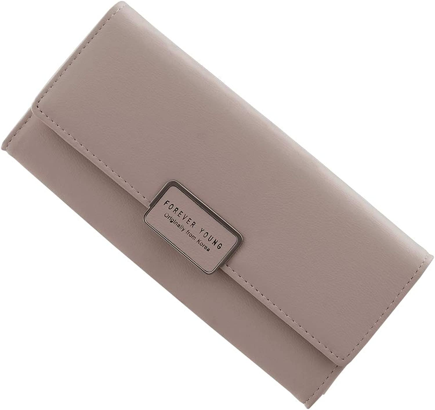 Wanhe Ladies Wallet PU Leather Wallet Large Capacity Long Credit Card Clutch Purse