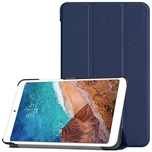 Xiaomi Mi Pad 4 Case, Ratesell Slim Lightweight Smart-Shell Stand Case Cover with Auto Sleep/Wake for Xiaomi Mi Pad 4 Tablet Navy