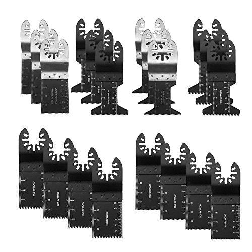 20 STÜCKE Holz / Bi-Metall Universal Oszillierende Multitool-Schnellwechsel-Sägeblätter, geeignet für feine Multimaster-Porter Rockwell Cable Black & Decker Bosch Craftsman Dremel Chicago
