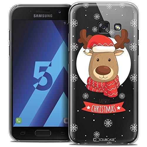 Caseink - Carcasa rígida para Samsung Galaxy A5 2017 (A520) [Crystal de la colección Navidad 2017, diseño de Ciervo a Bufanda - Ultra Fina - Impreso en Francia]
