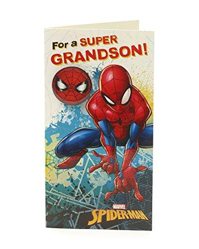 Carlton 547183 – 0-1 Marvel Spiderman Nipote Biglietto Di Compleanno