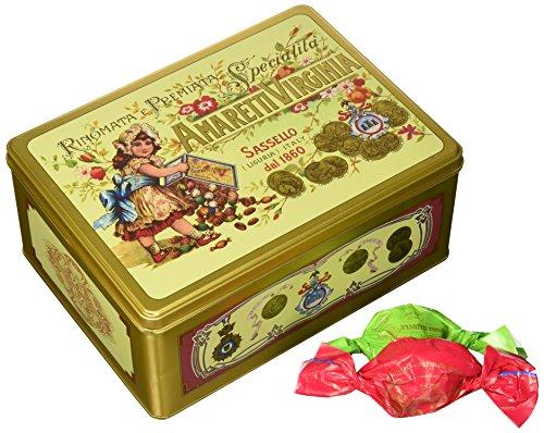 Amaretti Virginia - Rinomata e Premiata Specialita Soft Amaretti - Green Gold Tin - 350g