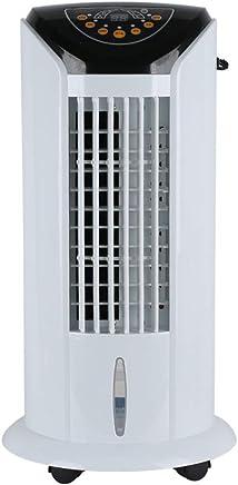 エアコン本体 モバイルエアコンエアコン空調ファン冷風機風よけクーラー人気水冷风片制御装置空気清浄機加湿器モバイル家庭用ミュートリモコン (色 : 白)