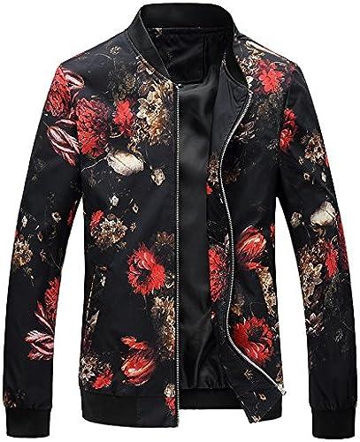 La Mode Masculine pour Veste, Mode XL des Motifs Floraux Veste Veste,Map Couleur,3XL,