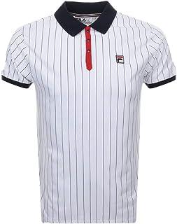 421c896748d66 Fila Vintage BB1 Classic Stripe Polo Shirt | White/Peacoat/Red