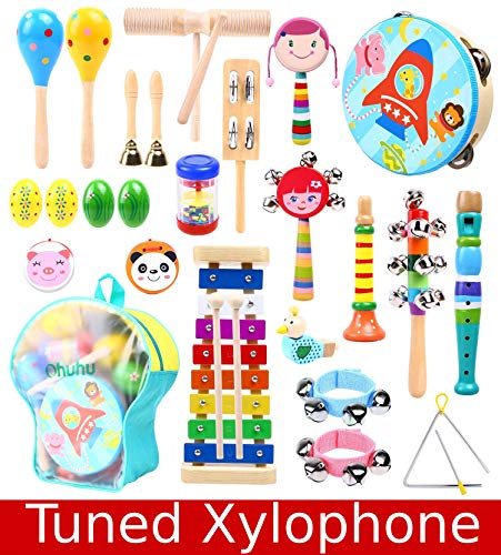 Music Instruments for Kids, Ohuhu Music Toys Kid Musical Instrument Set for Child with Tuned...