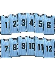 LCK 12 stuks plus size voetbal bizose, voetbal training pak, aanpasbaar aantal mouwloze vest voetbal team praktijk fitness ademend multi-color optioneel