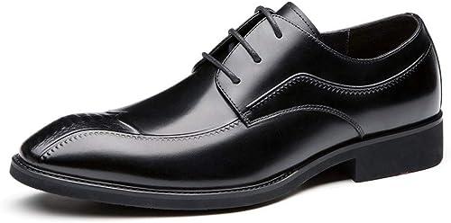 ChengxiO zapatos de Hombre de 2019 zapatos de Vestir de Hombre de Negocios Inglaterra Señaló con un Solo zapatos zapatos de Boda de Moda Simple Marea de Hombre zapatos de Cuero cómodos