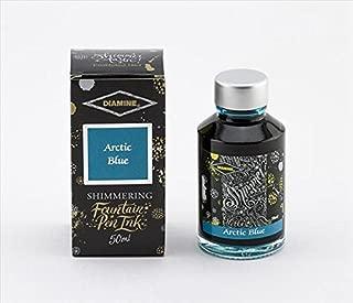 Diamine - Shimmering Fountain Pen Ink, Arctic Blue 50ml
