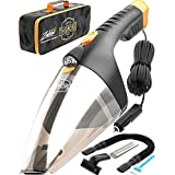 Car Vacuum Cleaner High Power - 110W 12v Corded auto Portable Vacuum Cleaner for Car Interior Cleaning - TWC-02 by ThisWorx for car (Black)