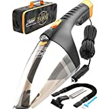 Portable Car Vacuum Cleaner: High Power Handheld Vacuum w/LED Light -110W 12v Best Car & Auto Accessories Kit for Detailing and Cleaning Car Interior - 16 Foot Cable