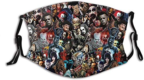 Horror Movie(2) men/woen made in USA breathable face mask washable reusable Adjustable Ear Loops
