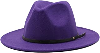 Fedora hats for men Unisex Large Size Wide Brim Cotton Felt Hat Fedora Hat Panama Hat With Belt Buckle Jazz Trilby Hat Par...