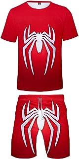 Silver Basic Conjunto de Camiseta y pantalón Corto de superhéroes de Spiderman