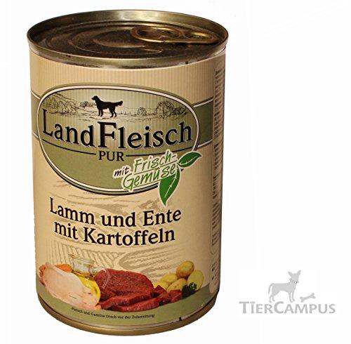 Dr. Alders Landfleisch Pur- Lamm und Ente mit Kartoffeln 12x400 g
