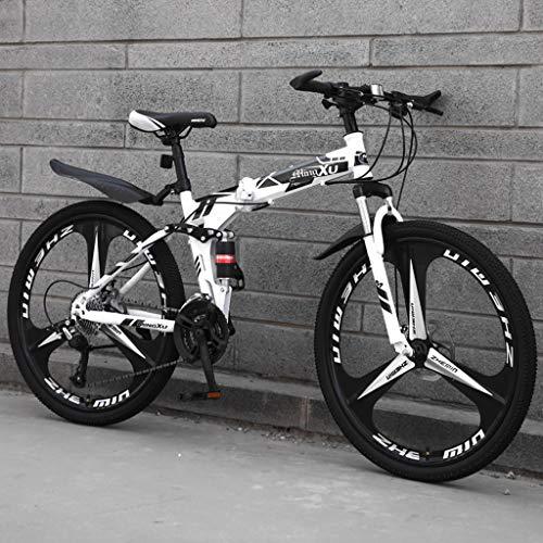 OFFA Fahrrad Mountainbike, Falträder for Erwachsene Jugendlich Kursteilnehmer, 24 / 26inches, Variable Speed Stoßdämpfer Mountainbike, Leichtes, Tragbares Fahrrad, Doppelscheibenbremse Rennrad