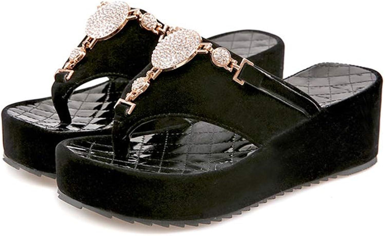 Btrada Summer Luxury Wedges Slippers Women Fashion High Heels Platform Casual Flip Flops Beach Sandal