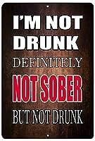 面白いビールアルコールサインメタルはファミリーバーのキッチンにサインできます私は酔っていません地味な贈り物